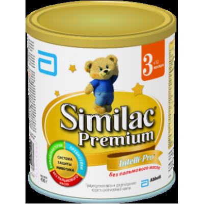 Симилак Премиум 3 - сухой молочный напиток, 12 мес., 400/24