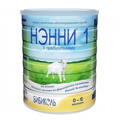 Нэнни 1 с пребиотиками - мол. смесь на основе козьего молока, 0-6 мес., 400