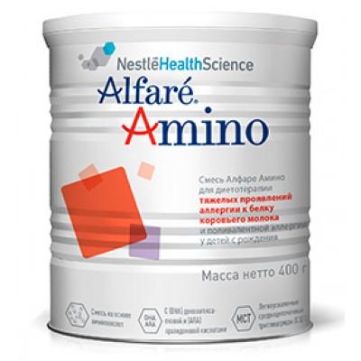 Специальная аминокислотная смесь Nestle Alfare Amino, для детей с рождения, 400гр