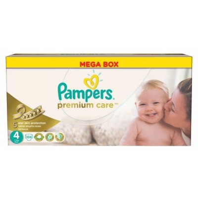 Подгузники Pampers Premium Care 4 (8-14 кг) 104 шт