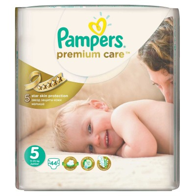 Подгузники Pampers Premium Care 5 (11-18 кг) 44 шт