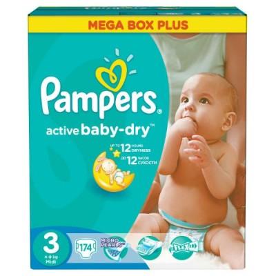 Подгузники Pampers Active Baby-Dry 3 (5-9кг) 174 шт