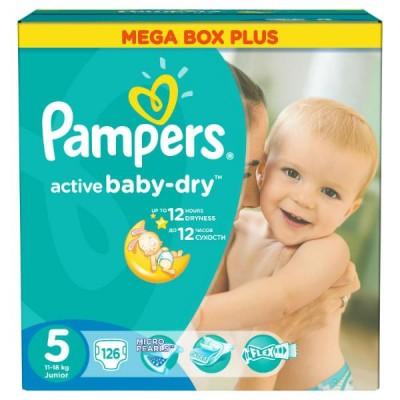 Подгузники Pampers Active Baby-Dry 5 (11-18кг) 126шт