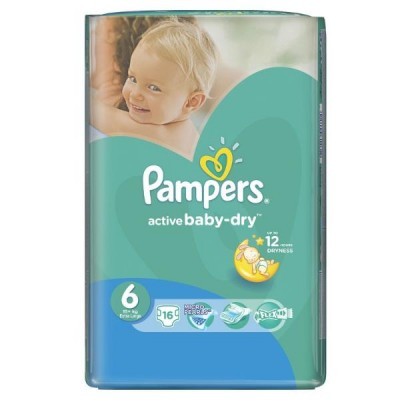 Подгузники Pampers Active Baby-Dry 6 (16+кг) 16шт