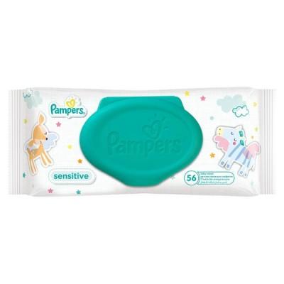 Детские салфетки влажные Pampers Sensitive 56 шт.