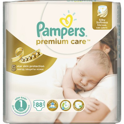 Подгузники Pampers Premium Care 1 (2-5 кг) 88 шт