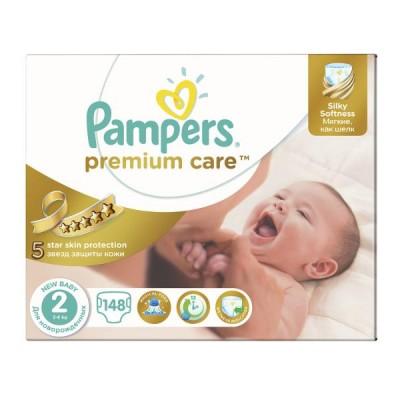Подгузники Pampers Premium Care 2 (3-6 кг) 148 шт