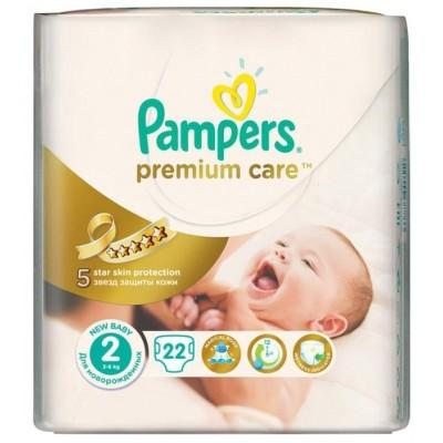 Подгузники Pampers Premium Care 2 (3-6 кг ) 22 шт