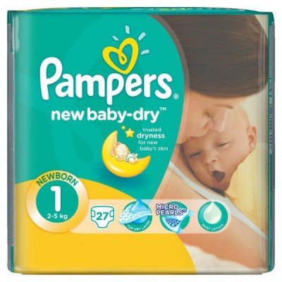 Подгузники Pampers New Baby-Dry 1 (2-5кг) 27шт