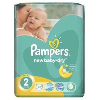 Подгузники Pampers New Baby-Dry 2 (3-6кг) 72шт
