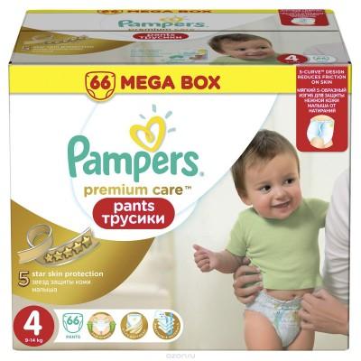Трусики Pampers Pants Premium Care Maxi 4 (9-14 кг) 66 шт
