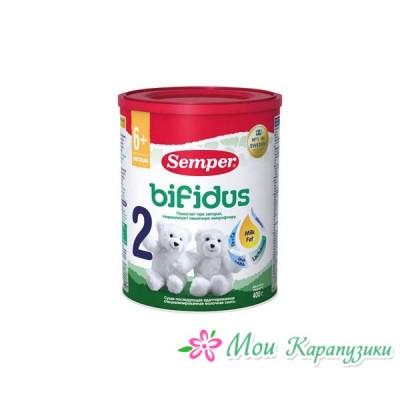 Сэмпер Бифидус Нутрадефенс 2 - спец. мол. смесь, 6-12 мес., 400