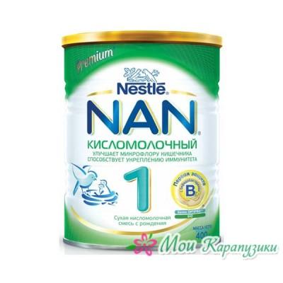 НАН Кисломолочный 1 - спец. мол. смесь, 0-6 мес., 400/12
