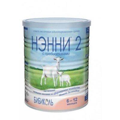 Нэнни 2 с пребиотиками - мол. смесь на основе козьего молока, 0-6 мес., 800