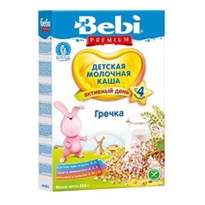Каша Bebi Premium гречка молочная, с 4 мес., 200гр.