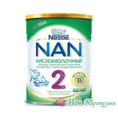 НАН Кисломолочный 2 - спец. мол. смесь, 6-12 мес., 400/12