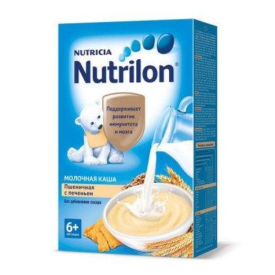 Каша Нутрилон (Nutrilon), пшеничная с печеньем молочная, с 6мес., 225гр