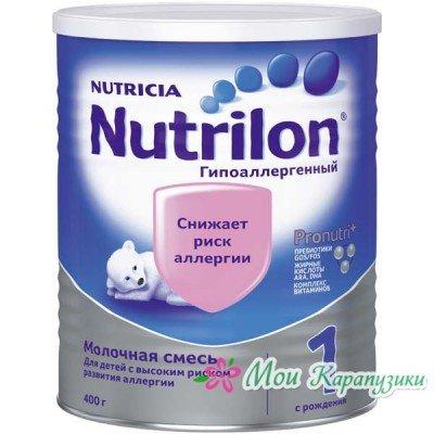Нутрилон Гипоаллергенный 1 - спец. мол. смесь, 0-6 мес., 400/24