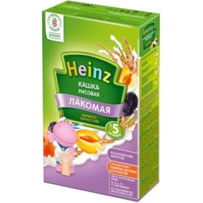 Лакомая кашка Хайнц Рисовая абрикос, чернослив, с 5 мес., 200г картон