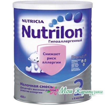 Нутрилон Гипоаллергенный 2 - спец. мол. смесь, 6 мес., 400