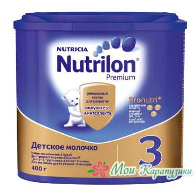 Нутрилон Джуниор 3 - детское молочко PronutriPlus, 12 мес., 400/6