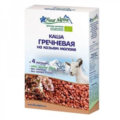 Каша молочная Fleur Alpine гречневая на козьем молоке (с 4 мес.) 200 г