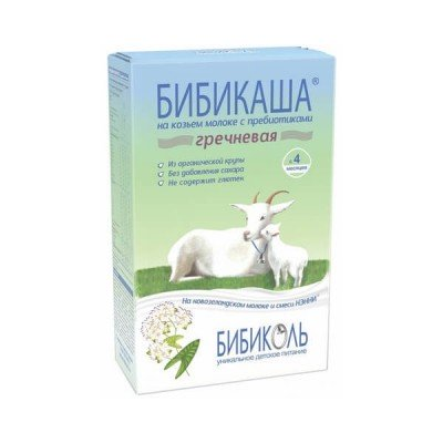 Каша гречневая на козьем молоке «Бибикаша» с пребиотиками, с 4 мес., 250г.