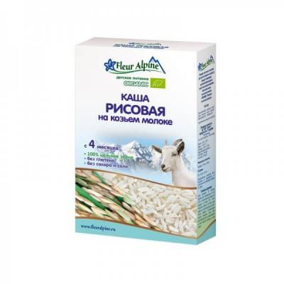 Каша молочная Fleur Alpine рисовая на козьем молоке (с 4 мес.) 200 гр.