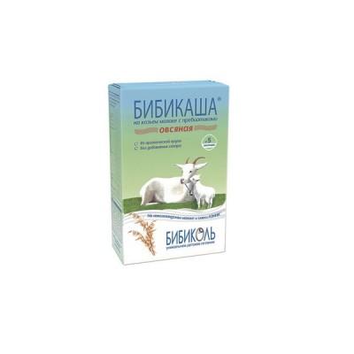 Каша овсяная на козьем молоке «Бибикаша» с пребиотиками, с 5 мес., 250г.
