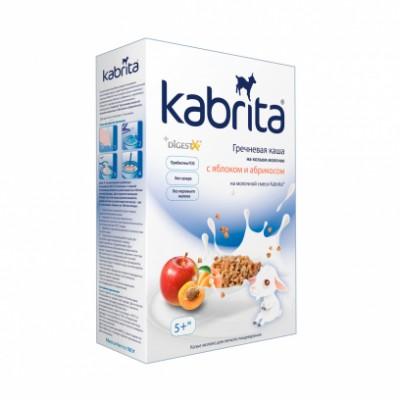Каша Kabrita гречневая с яблоком и абрикосом на козьем молоке, с 5 мес, 180гр