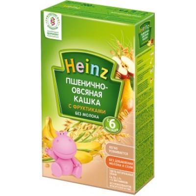 Кашка Хайнц безмолочная Пшенично-овсяная с фруктиками, с 6 мес., 200г картон