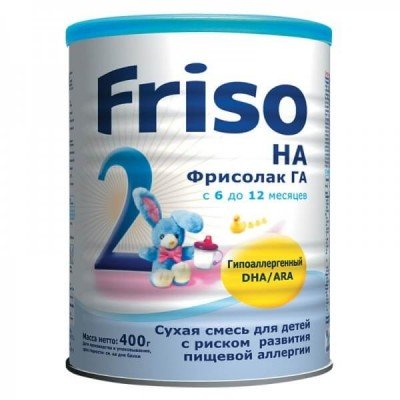 Фрисолак 2 ГА с DHA/ARA - спец. мол. смесь, 6-12 мес., 400/24