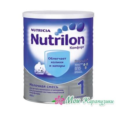 Нутрилон Комфорт 1 - спец. мол. смесь PronutriPlus, 0-6 мес., 400/24