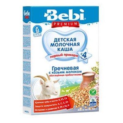 Каша Bebi на козьем молоке, гречневая, с 4х мес., 200гр.