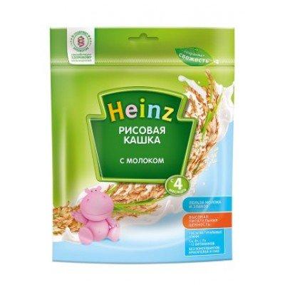 Кашка Хайнц Рисовая с молоком, с 4 мес., 250 г Пакет