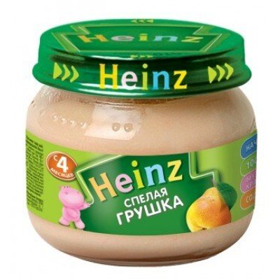 Пюре Хайнц Спелая грушка, с 4 мес., 120г Банка стекло