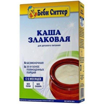Каша Беби Ситтер безмолочная, злаковая, с 6 мес., 200гр