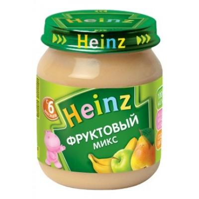 Пюре Хайнц Фруктовый микс, с 6 мес., 120г Банка стекло