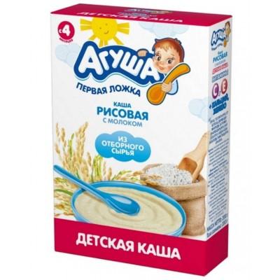 """Каша сухая молочная """"Агуша"""" Рисовая с 4 мес, 200 гр"""