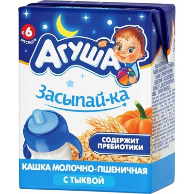 Каша готовая Агуша «Засыпай-ка» Пшеничная, упак 18х200 мл