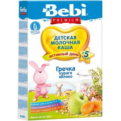 Каша молочная Bebi Premium гречневая с курагой и яблоком с 5 мес. 200 гр