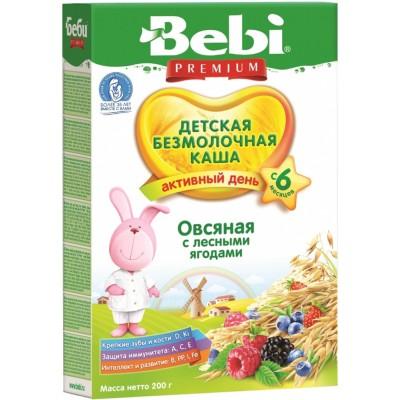 Каша безмолочная Bebi овсяная с лесными ягодами 200 гр с 6 мес