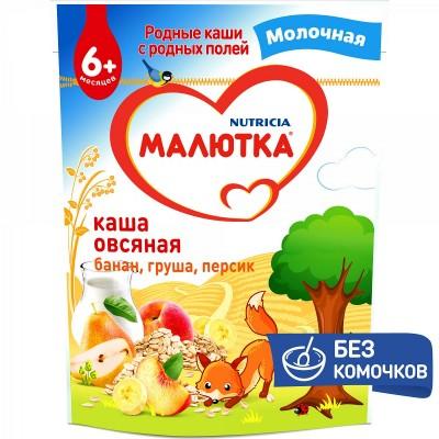 Каша молочная Малютка овсяная с фруктами с 6 мес. 220 гр