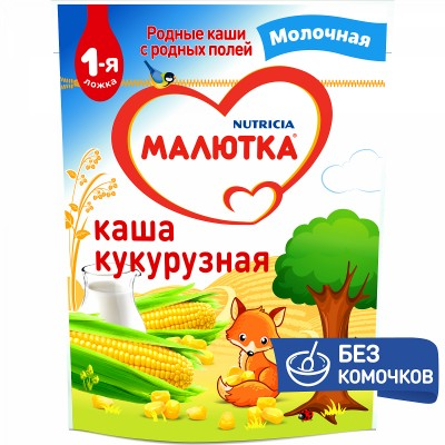 Каша молочная Малютка кукурузная с 5 мес. 220 гр
