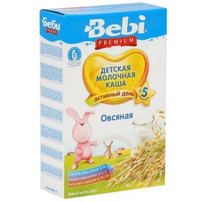 Каша Bebi Premium овсяная молочная, с 5 мес., 250гр.