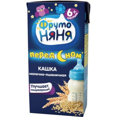 (Упак 27х0.2л) Каша готовая молочная ФрутоНяня пшеничная с 6 мес
