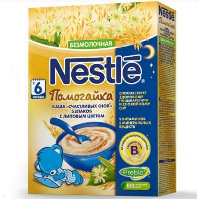 Каша Nestle Помогайка 5 злаков с липовым цветом 200 гр