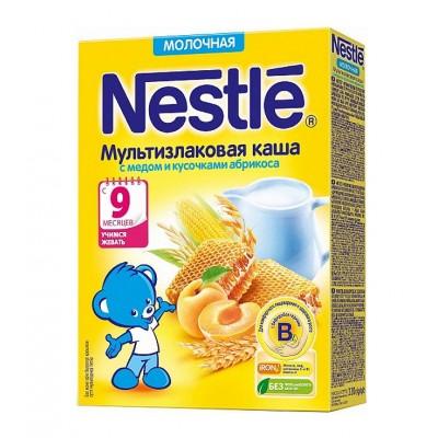 Каша молочная Nestle мультизлаковая с медом и кусочками абрикоса с 9 мес. 220 г