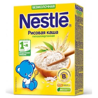 (Упак 9штх200гр) Каша Nestle безмолочная рисовая, гипоаллергенная