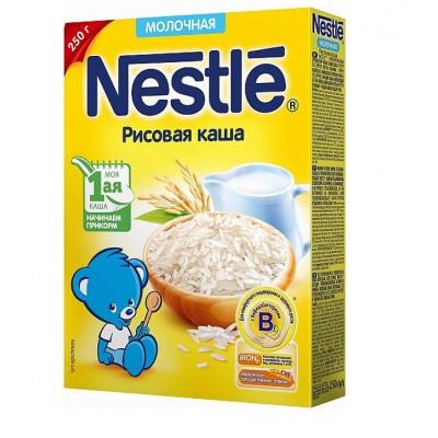 Каша молочная Nestle рисовая с 4 мес. 250 гр